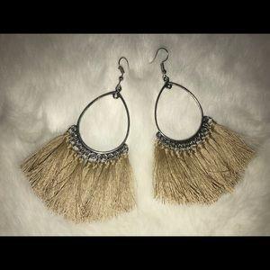 Handmade Fringe Hoop Earrings